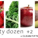 Dirty Dozen (plus 2) + Clean 15