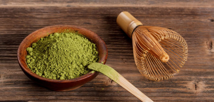 natural beauty ingredients japanese green powder matcha tea