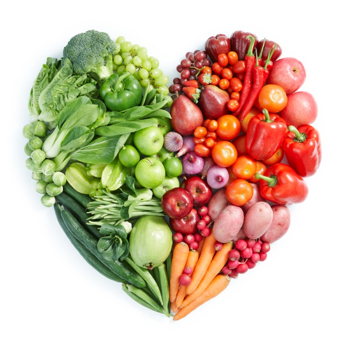 SPF foods vegetables fruits heart