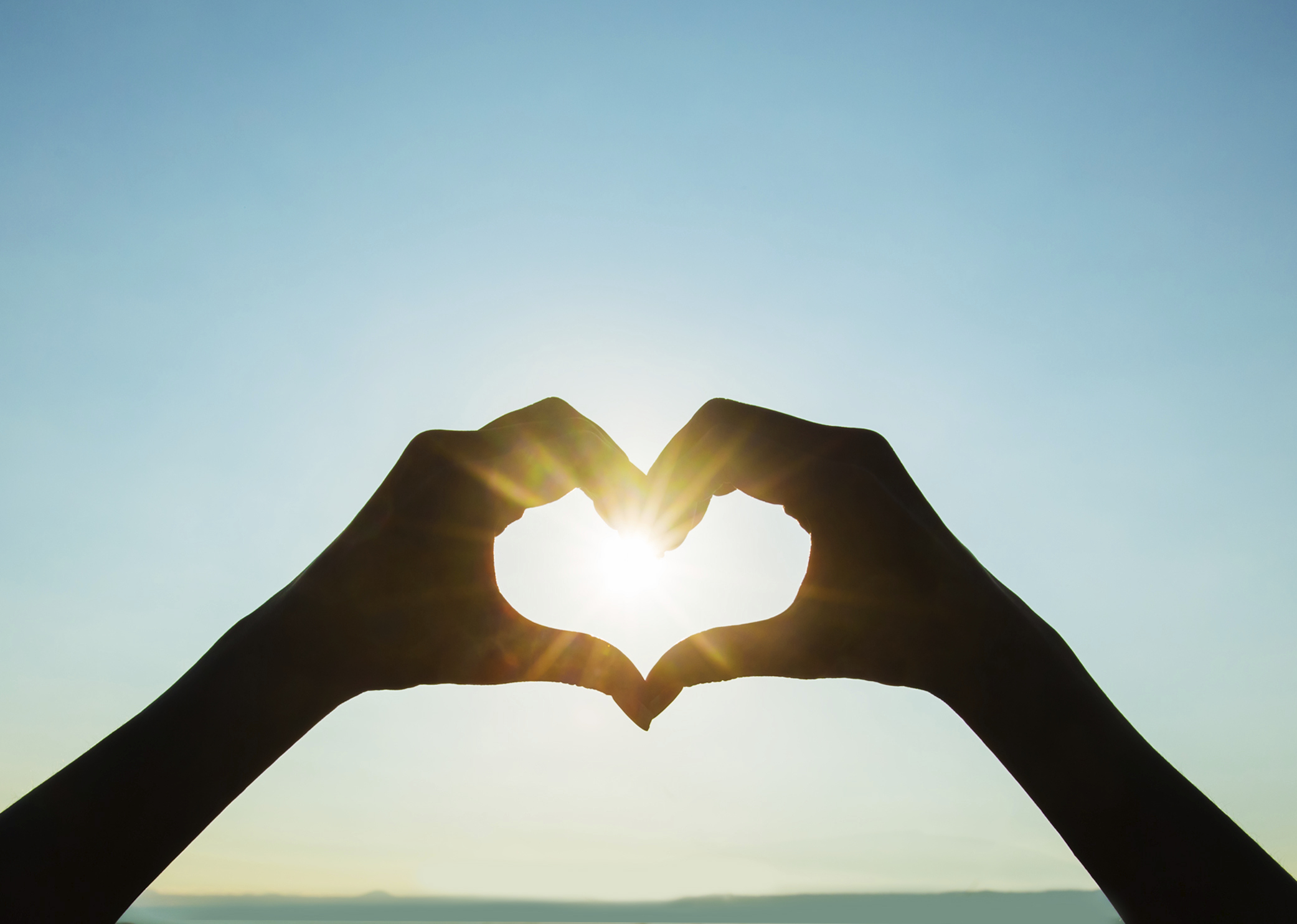 солнце сердечком картинки