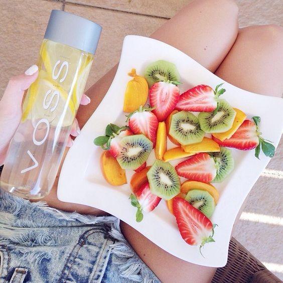 lemon water fruit infused gut