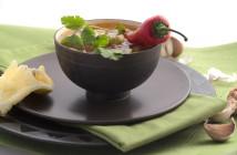 zucchini soup rice bowl