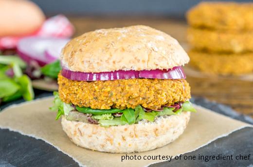 Quinoa and Sweet Potato Veggie Burgers