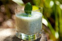 chilled pepper and cucumber soup