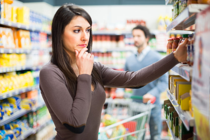 38612166 - woman shopping in a supermarket
