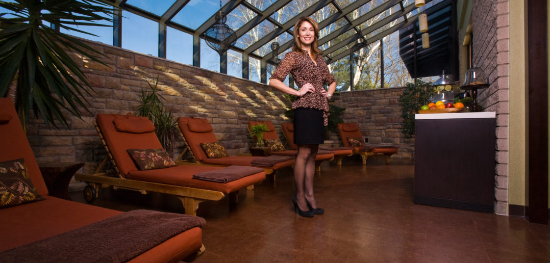 Denise Dubois, principal of Complexions Spa and Salon and client of Wilber National Bank's Halfmoon, NY branch.