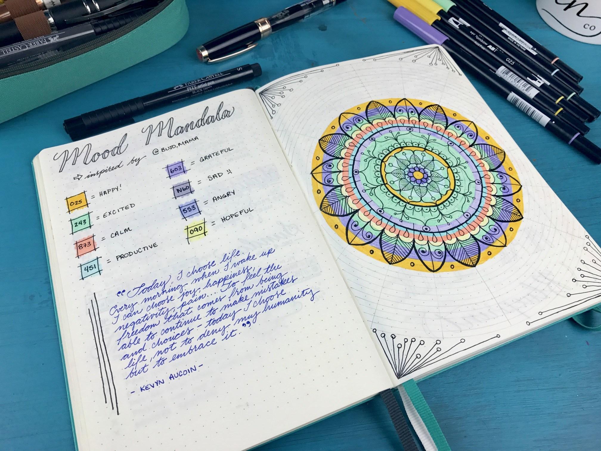 Mood Calendar Bullet Journal : Bullet journaling super turbo tips for better self care